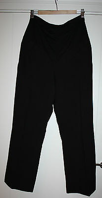 Blooming Marvellous Maternity Over the Bump Black Trouser, Mothercare, size 12