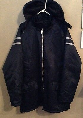 Neptune Garment Co. Of Boston Uniform Delivery Carrier Coat Mens Size Xl Navy Bl