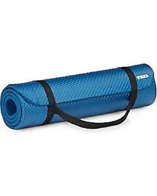 TKO Blue All Purpose Fitness Hi Density Yoga 54x22 Carrying Strap Exercise Mat