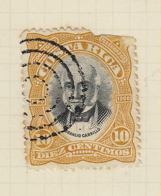 Ls76  Early Costa Rica Stamp  From An Old Album