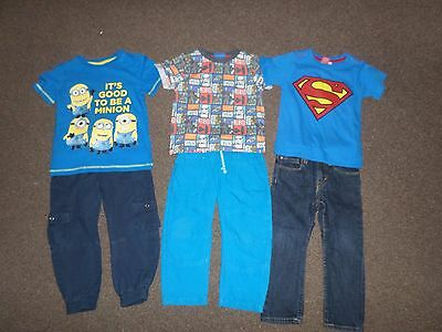 Boys T Shirts Trousers Jeans M&S Mothercare H&M Navy Blue Outfits 2-3 Years