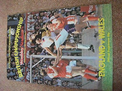 England  Wales  British Championship   May 1981 Programme Home International