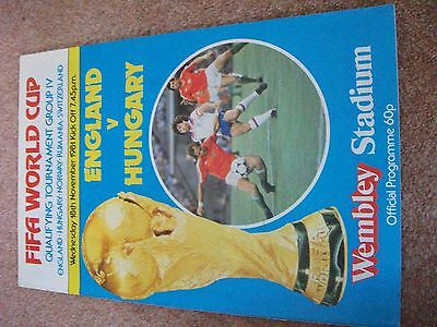 England  Hungary World Cup Qualifier   November  1981 Programme