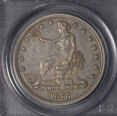 1878-S T$1 Trade Silver Dollar  Nice!   Xf45 Pcgs