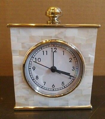Pottery Barn Mother Of Pearl Clock Brand New In Box