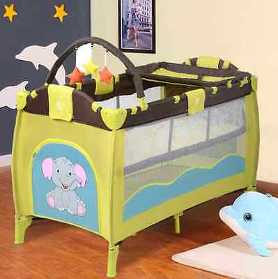 Playpen Baby Travel Cot Entryway Bed Kids Infant Mobile Bassinet Play Pen Cribs