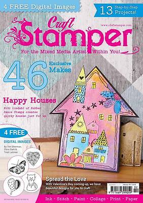 Craft Stamper Magazine February 2017 - with digital images