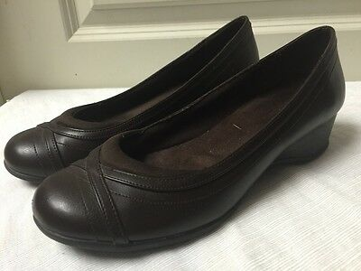 Women's Size 8.5 W Dark Brown Comfort Plus By Predictions Mary Janes
