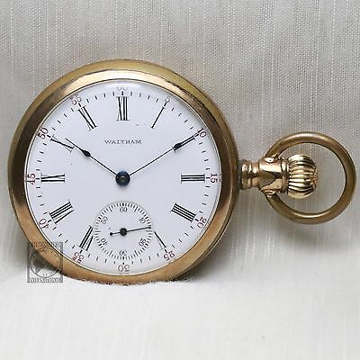 Gold 1905 WALTHAM 15 Jewel Pocket Watch for Parts or Repair Grade 620 16s