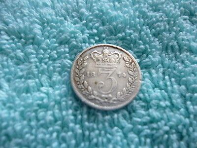 Silver Queen Victoria 3d Coin - Dated 1874