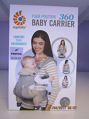 BRAND NEW in BOX ~ Ergobaby Four Position 360 Carrier - Grey