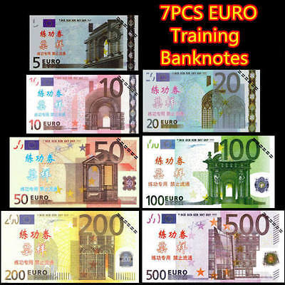 EURO €500/200100/50/20/10/5 Training Learning Arts Banknote  Gifts