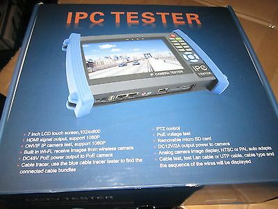 7inch CCTV Onvif IP Camera Tester Touch Screen Monitor PTZ Control IPC-8600 H6Q2