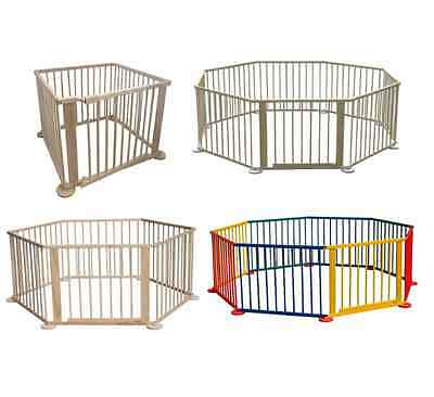 Baby Wooden Playpen Play Pen Indoor Outdoor Room Divider Kids Children Portable