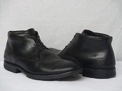 Timberland Smart Comfort Black Leather Chukka Dress Ankle Boots Men's Size 10