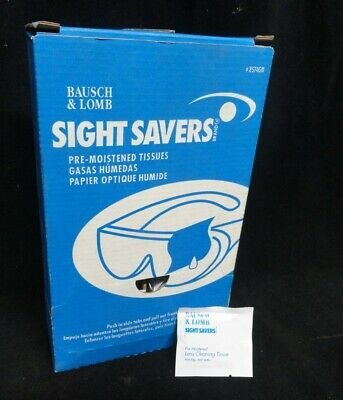 Bausch & Lomb * Sight Savers * Pre-Moistened Tissues * 8574Gm * Box Of 70 * New