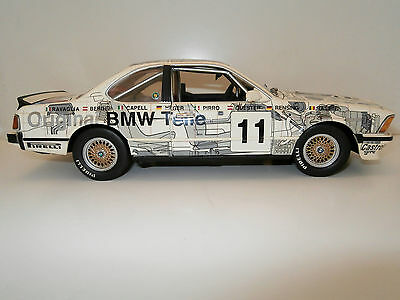 BMW 635 csi with Race Graphics/Touring Car 1/18th scale