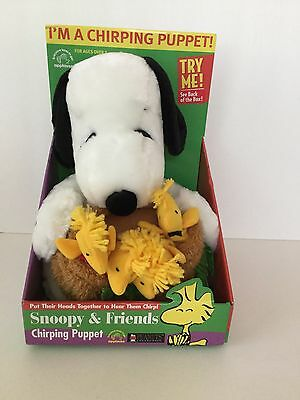 APPLAUSE Peanuts Snoopy & Friends Woodstocks Chirping Puppet Plush NEW in Box