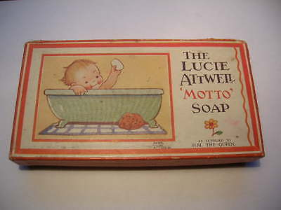 LUCIE ATTWELL Vintage Card Box Advertising 'MOTTO' Soap As supplied to H.M QUEEN
