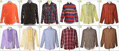 """JOB LOT OF 49 VINTAGE MEN""""S SHIRTS - Mix of Era's, styles and sizes (18602)*"""