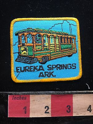 Vtg Arkansas Patch EUREKA SPRINGS TROLLY Visitor Attraction 71WO