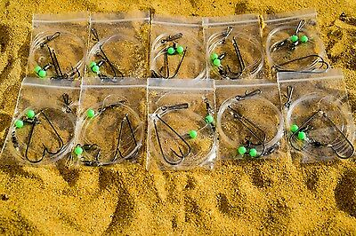 Winter Sea Fishing Rigs 20 single hook clipped down  rigs very good for bass