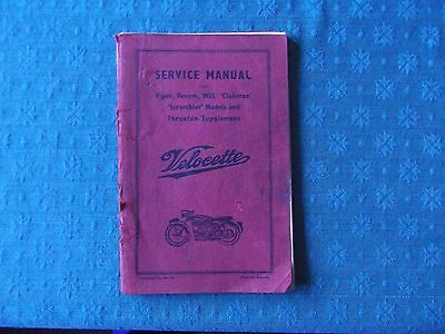 Velocette Service Manual with Thruxton Supplement.
