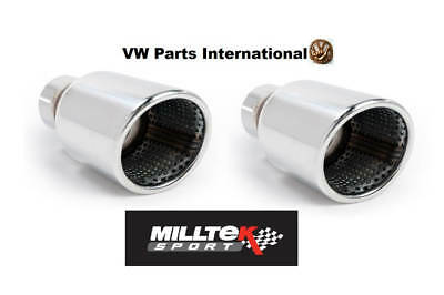 VW Golf MK4 R32 Milltek Sport Exhaust Cat Back Jet100 Tips Tail Pipes Trims Only