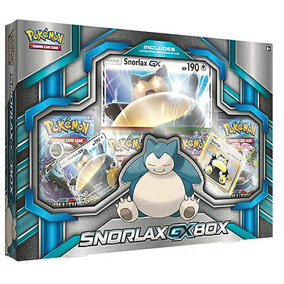Snorlax GX pokemon box includes 4 tgc booster packs