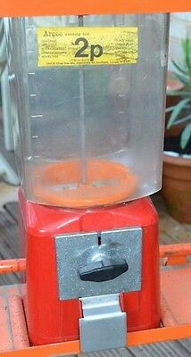 Sweet machine dispenser with stand 1970s original vintage up-cycle project
