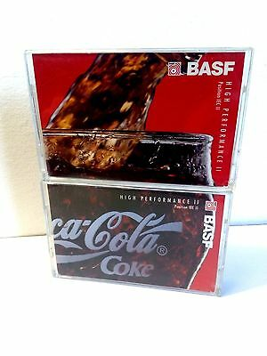 CASSETTE BLANK - 2 (two) tapes BASF 90 (type II) [1995] COCA COLA