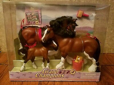 Vintage Grand Champions Clydesdale Horse Family 51001 Dark Bay NOS