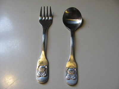 Stainless Steel Child's Spoon & Fork Set - Made in Japan