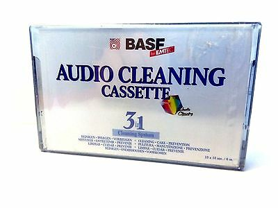 1x (one) BASF EMTEC AUDIO CLEANING CASSETTE TAPE SEALED 3 in 1