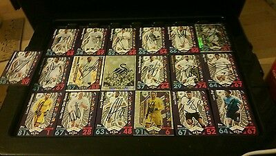 Signed Swansea City Match Attax Cards X19  16X17 Season