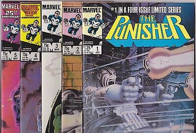 The Punisher #1-5, 1986, 1st limited series full set VF/NM w/ Zeck signature