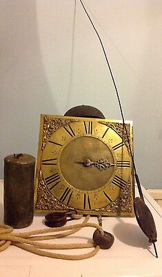 18th C One Hand Weight Driven Longcase Clock Movement
