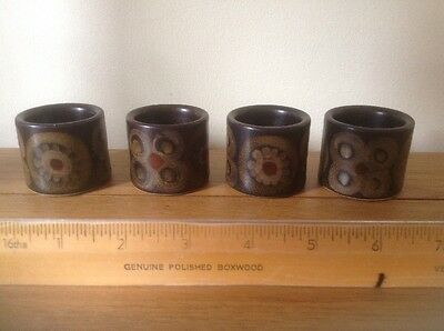 4 Denby Pottery Retro/ Vintage Arabesque Egg Cups.