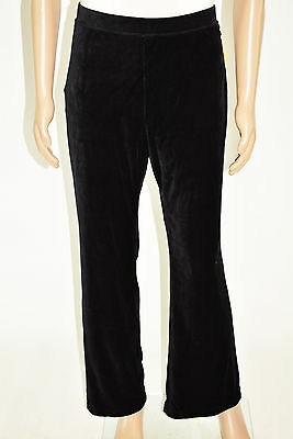 New Style&Co Women Black Straight-Leg Velour Pull-On Casual Active Pants Plus 2X
