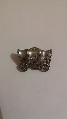 Pewter Old West Stagecoach Style Pin/Badge/Brooch by JJO.