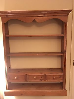Solid Pine Wall Unit With Drawers