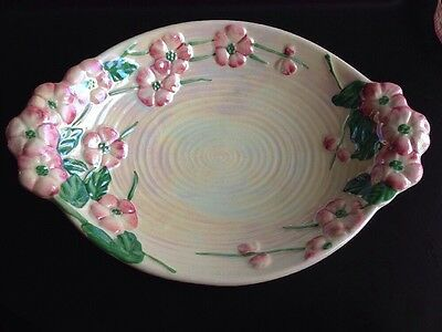 """Maling Vintage Oval Floral Blossom Dish Pink 11"""" X 7.5"""""""