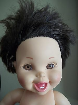 VTg SO HAPPY HANNAH galoob BABY FACE expressive BRUNETTE brown hair DOLL