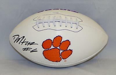 DeAndre Hopkins Autographed Clemson Tigers Logo Football- JSA Witnessed Auth