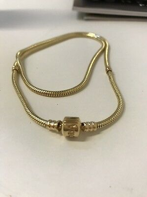 AUTHENTIC PANDORA 50 Cm Solid 14ct GOLD NECKLACE 550703 Brand New Genuine