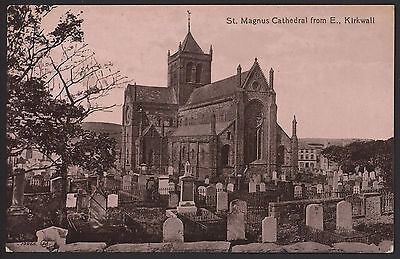 Orkney Islands. Kirkwall - St.Magnus Cathedral from E - Early Valentine Postcard