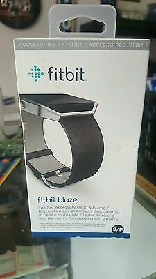 New Fitbit Blaze Leather Accessory Band And Frame Color: Black Size: S Free Ship