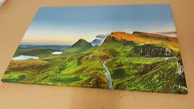 Quiraing mountains sunset at Isle of Skye Scotland Print on canvas