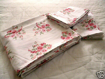 Quality BELLORA Double or King FLAT SHEET & 2 CASES ~ 220 cm x 267cm ~ Laundered