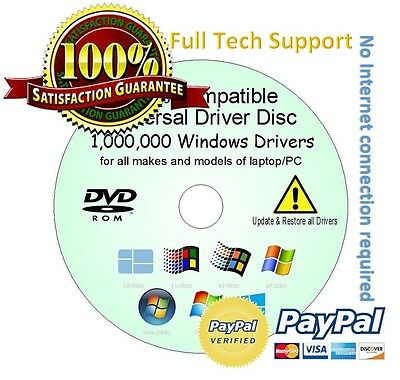 DELL SONY ACER Drivers Update/Restore/Rescue Disc all Windows XP/Vista/7/8